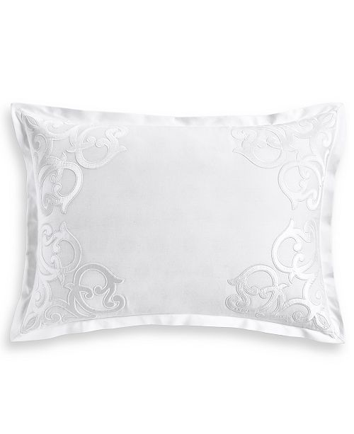 Hotel Collection Classic Scroll Appliqué Cotton Standard Sham, Created for Macy's