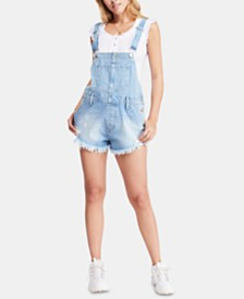 Free People June Denim Shortalls