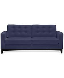 "Sivri 79"" Leather Sofa"