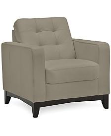 "Sivri 34"" Leather Chair"