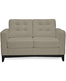 "Sivri 56"" Leather Loveseat"