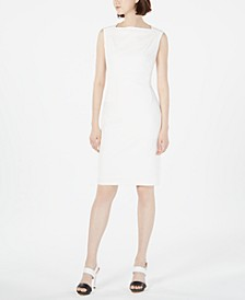 Boat-Neck Sheath Dress