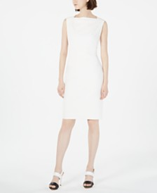 Calvin Klein Boat-Neck Sheath Dress