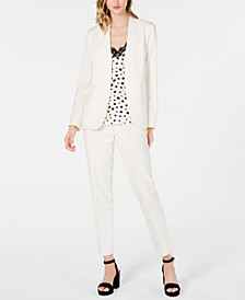 Bi-Stretch Jacket & Pants, Printed Spaghetti-Strap Top, Created for Macy's