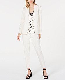 Bar III Bi-Stretch Jacket & Pants, Printed Spaghetti-Strap Top, Created for Macy's