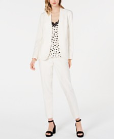 Bar III Bi-Stretch Jacket & Pants, Printed Spaghetti-Strap Top, Created for Macy's