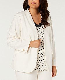 Plus Size Bi-Stretch Cardigan Jacket, Created for Macy's