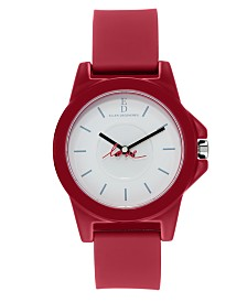 Ellen Degeneres Women's Red Silicon Strap Watch 38mm