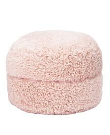 Mimish Poodle Faux Fur Pouf Ottoman with Storage