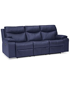 """Ronse 88"""" Leather Sofa with 2 Power Recliners"""