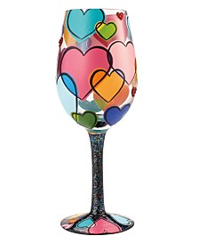 Enesco Lolita Love Is All Around Wine Glass