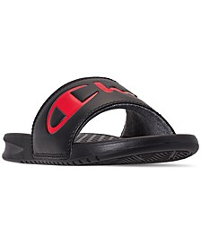 Women's Super Slide Split Script Slide Sandals from Finish Line