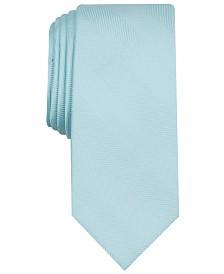 Bar III Men's River Skinny Herringbone Tie, Created for Macy's