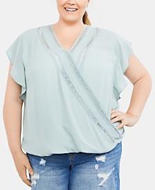 Jessica Simpson Plus Size Wrap Nursing Top