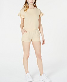 Juniors' Back-Tie French Terry Crop Top, Created for Macy's