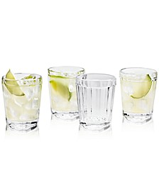 CLOSEOUT! La Dolce Vita Clear Double Old-Fashioned Glasses, Set of 4, Created for Macy's