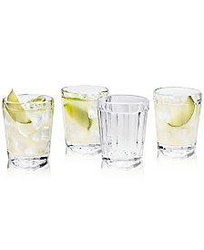 Martha Stewart Collection La Dolce Vita Clear Double Old-Fashioned Glasses, Set of 4, Created for Macy's