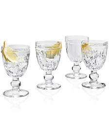 Martha Stewart Collection La Dolce Vita Clear Footed Goblets, Set of 4, Created for Macy's