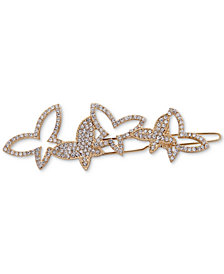 lonna & lilly Gold-Tone Crystal Butterfly Barrette