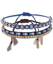 lonna & lilly Gold-Tone 2-Pc. Set Beaded Slider Bracelets