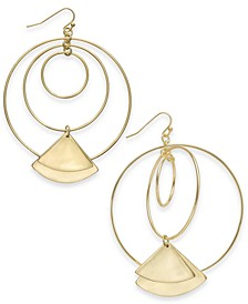 Gold-Tone Geometric Drop Earrings, Created for Macy's