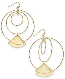 Thalia Sodi Gold-Tone Geometric Drop Earrings, Created for Macy's