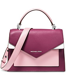 Ludlow Colorblocked Leather Satchel