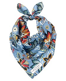 Laundry by Shelli Segal Boho Floral Silk Square Scarf