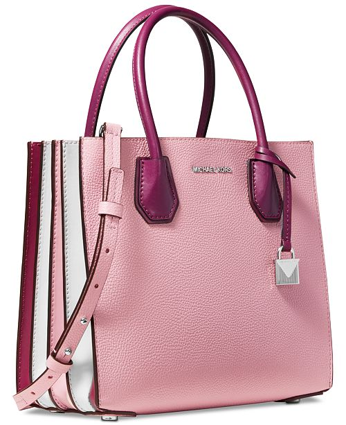 Michael Kors Mercer Small Colorblocked Leather Accordion Tote