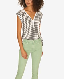 Sanctuary Laura V-Neck Striped T-Shirt