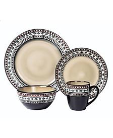 16 Piece Glazed Dinnerware