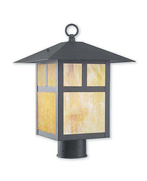 "Livex Montclair Mission 1-Light 18"" Outdoor Post Lantern"