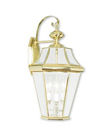 CLOSEOUT! Livex   Georgetown 3-Light Outdoor Wall Lantern