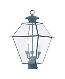 Livex Westover 3-Light Outdoor Post Lantern