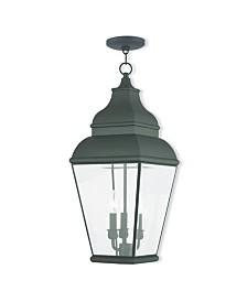 Livex Exeter 3-Light Outdoor Chain Lantern