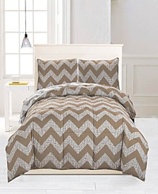 Wyatt Reversible 3-Pc. King Comforter Set