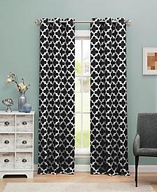"Kyra 38"" x 84"" Trellis Print Blackout Curtain Set"