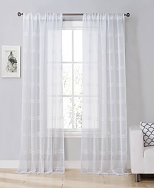 "Southside 38""x63"" Sheer Stripe Curtain Set"