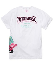Born Fly Men's Big & Tall Embroidered Paradise T-Shirt