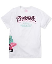 4df08981 Born Fly Men's Slim-Fit Embroidered Paradise T-Shirt