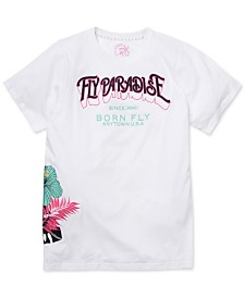 Born Fly Men's Slim-Fit Embroidered Paradise T-Shirt
