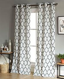 "Mason 38"" x 96"" Trellis Print Curtain Set"