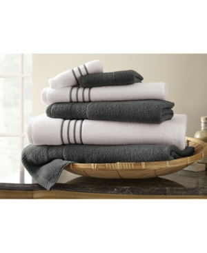 6 Pc Quick Dry Stripe Towel Set Bedding