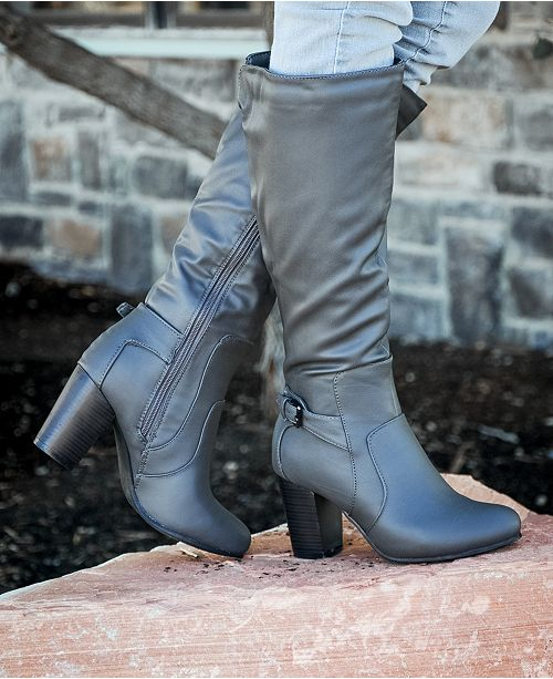 538c6a02d Journee Collection Women's Carver Regular and Wide Calf Boot ...