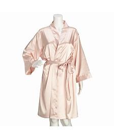Lillian Rose Blush Satin Bride Robe L/XL