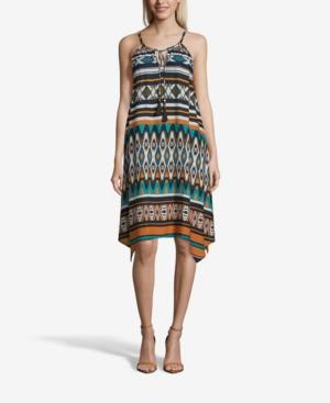 Multi Print Sleeveless Dress