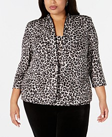 Plus Size Jacket & Tank Top