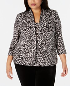 Alex Evenings Plus Size Jacket & Tank Top