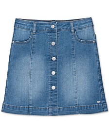 Little Girls Button-Front Denim Skirt