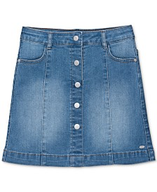 Tommy Hilfiger Little Girls Button-Front Denim Skirt